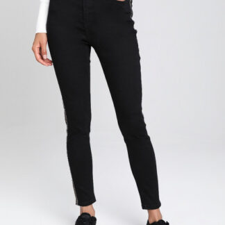 Зауженные джинсы с лампасами O`Stin